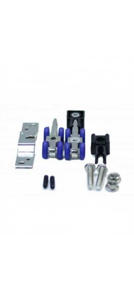 Комплект ролики дверные MFK-015 + нижние и верхние направляющие