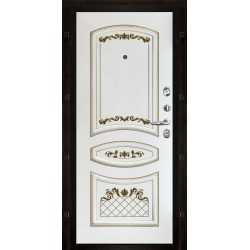 Выберите внутреннюю панель: Алина Эмаль белая + патина золото (ХДФ 16мм Эмаль)